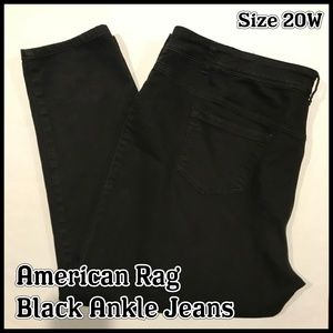 ➕ American Rag Black Ankle Jeans 20 20W